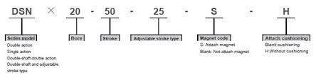 ข้อมูลพื้นฐาน ของกระบอกลม รุ่น DSN2